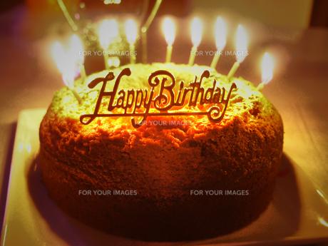 バースデーケーキの写真素材 [FYI00233941]