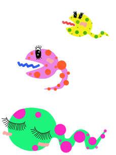カラフル蛇の写真素材 [FYI00234027]