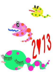 カラフル蛇 2013の写真素材 [FYI00234029]