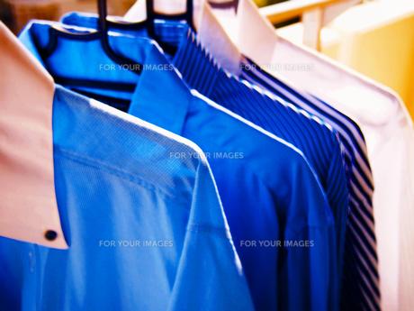 干したワイシャツの写真素材 [FYI00234105]