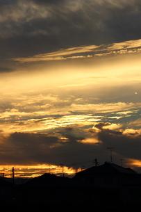 黄色い夕焼けの写真素材 [FYI00234183]
