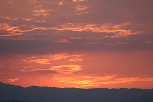 赤い夕焼けの写真素材 [FYI00234212]