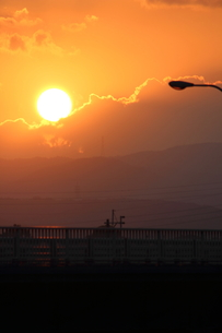 鮮やかな太陽の写真素材 [FYI00234221]