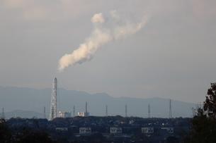 工場の煙の写真素材 [FYI00234235]