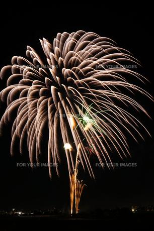 調布市花火大会 2012年 大輪の単色の光の素材 [FYI00234976]