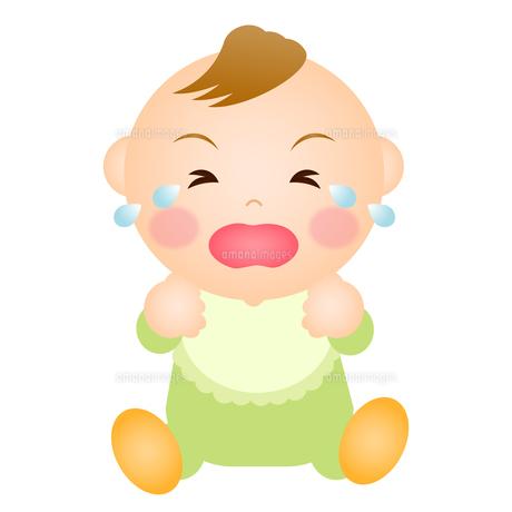 泣く赤ちゃん(男の子)の写真素材 [FYI00235049]