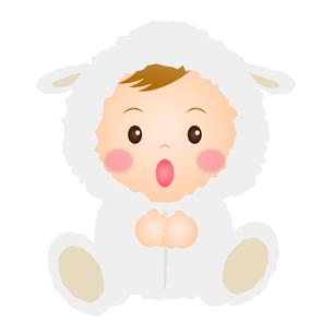 羊の着ぐるみを着た赤ちゃんの写真素材 [FYI00235053]