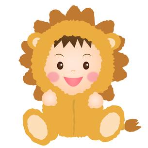 ライオンの着ぐるみを着た赤ちゃんの写真素材 [FYI00235054]