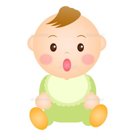 座る赤ちゃん(男の子)の写真素材 [FYI00235063]