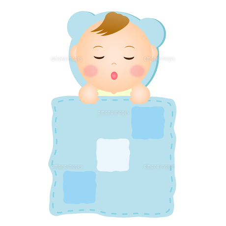 眠る赤ちゃん(男の子)の写真素材 [FYI00235065]