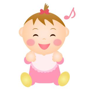 喜ぶ赤ちゃん(女の子)の写真素材 [FYI00235072]