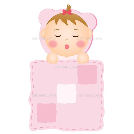 眠る赤ちゃん(女の子)の写真素材 [FYI00235078]