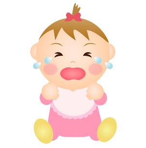 泣く赤ちゃん(女の子)の写真素材 [FYI00235080]