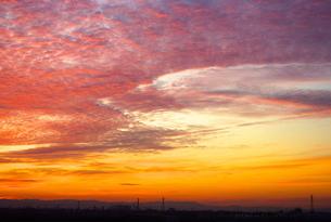 朝焼けの空の写真素材 [FYI00235149]