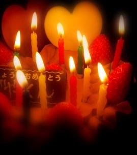 Birthday cake (Heart)の写真素材 [FYI00235399]