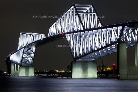 東京ゲートブリッジ 夜景の写真素材 [FYI00236670]