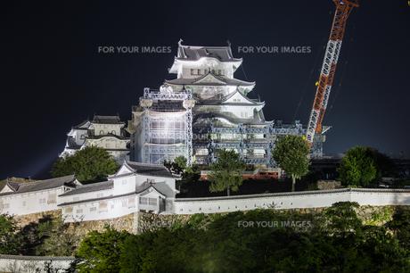 姫路城ライトアップの写真素材 [FYI00236722]