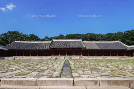 世界遺産 宗廟(ソウル)の写真素材 [FYI00236840]