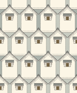 シームレスパターン・蔵屋敷の写真素材 [FYI00236861]