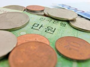韓国のお金の写真素材 [FYI00237317]