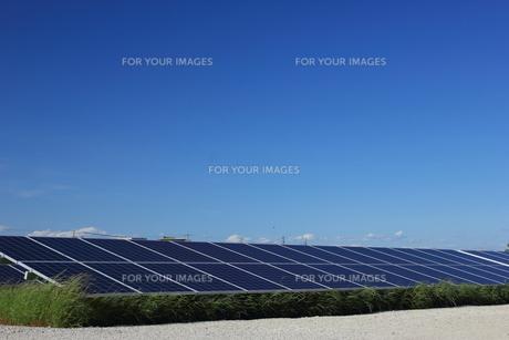 ソーラーパネルの写真素材 [FYI00237623]
