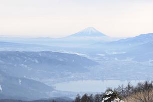 冬の富士山の写真素材 [FYI00237997]