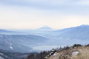 冬の富士山の写真素材 [FYI00237999]