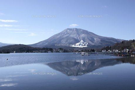 信州野尻湖から見る黒姫山の風景の素材 [FYI00238283]