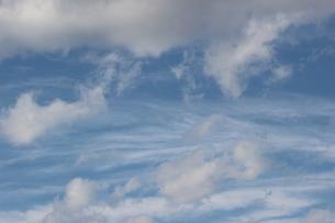 信州の冬の晴れ間の雲と空の素材 [FYI00238288]