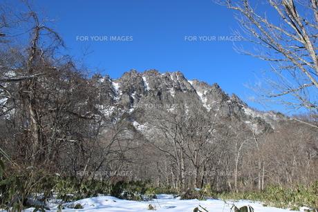 信州奥社の雪景色の素材 [FYI00238302]