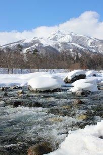 美しき白馬の冬景色の素材 [FYI00238339]
