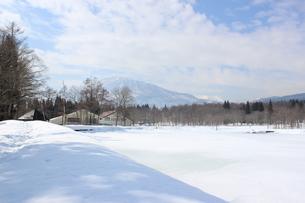 妙高高原の雪景色の写真素材 [FYI00238424]