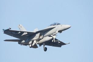 青空を飛ぶF18の写真素材 [FYI00238607]