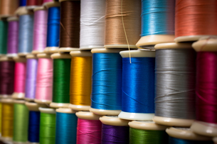 カラフルな糸の写真素材 [FYI00238851]