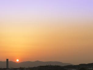 沈む夕日の写真素材 [FYI00238880]