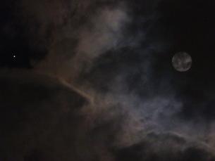 月と火星の写真素材 [FYI00239643]