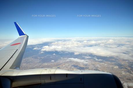 飛行機からみる琵琶湖の写真素材 [FYI00239650]