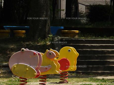 動物の形をした遊具の写真素材 [FYI00239673]
