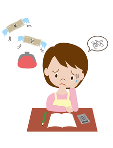 増税に悩む主婦の写真素材 [FYI00240262]