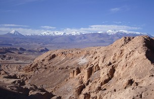 """南米アンデスの高地サンペドロ・デ・アタカマに位置する景勝地""""月の谷""""の写真素材 [FYI00240357]"""