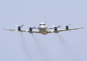 海上自衛隊の主力機P-3Cオライオン哨戒機の写真素材 [FYI00240363]