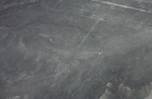 南米ペルーの世界遺産、ナスカの地上絵の空撮の写真素材 [FYI00240454]