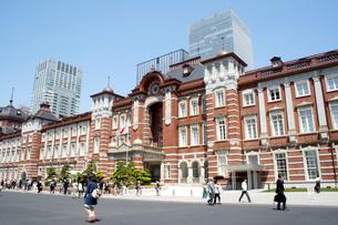 東京駅 赤レンガ駅舎外観の写真素材 [FYI00240552]