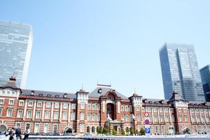東京駅 赤レンガ駅舎外観の写真素材 [FYI00240553]