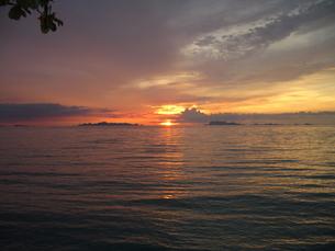 サムイ島の夕日の写真素材 [FYI00240589]