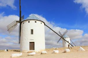 ラ・マンチャ地方風車群の写真素材 [FYI00240691]