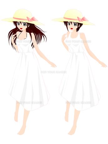 麦わら帽子の女の子の写真素材 [FYI00241507]