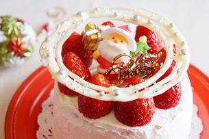 クリスマスの苺ショートケーキの素材 [FYI00242279]