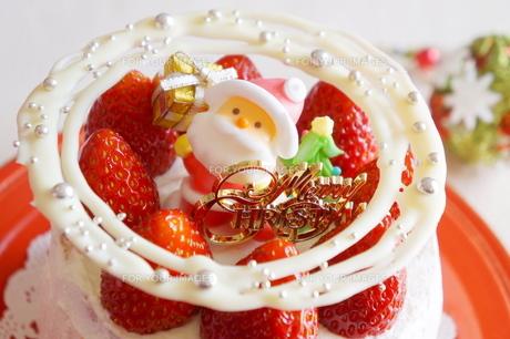 クリスマスの苺ショートケーキの素材 [FYI00242283]