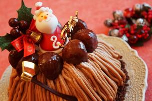 クリスマスのモンブランケーキ の素材 [FYI00242286]